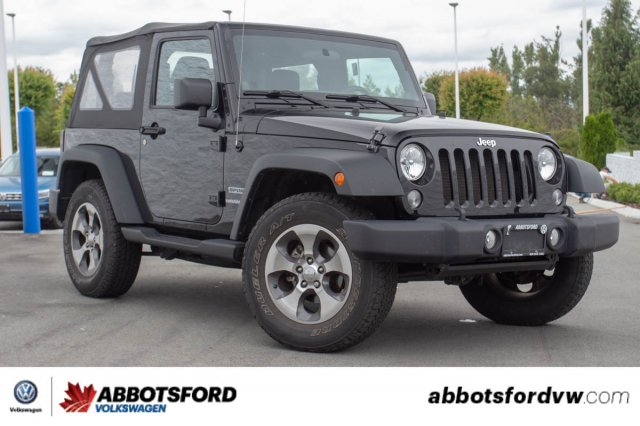 Pre-Owned 2014 Jeep Wrangler Sport NO ACCIDENTS, B.C. CAR, MANUAL!