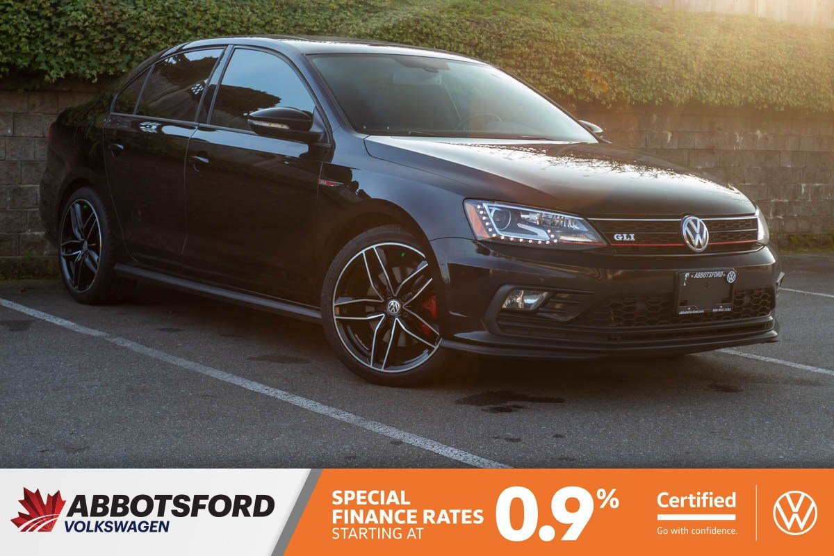 Certified Pre-Owned 2016 Volkswagen Jetta Sedan GLI Autobahn ONE OWNER, LEATHER, SUNROOF, LOCAL CAR!
