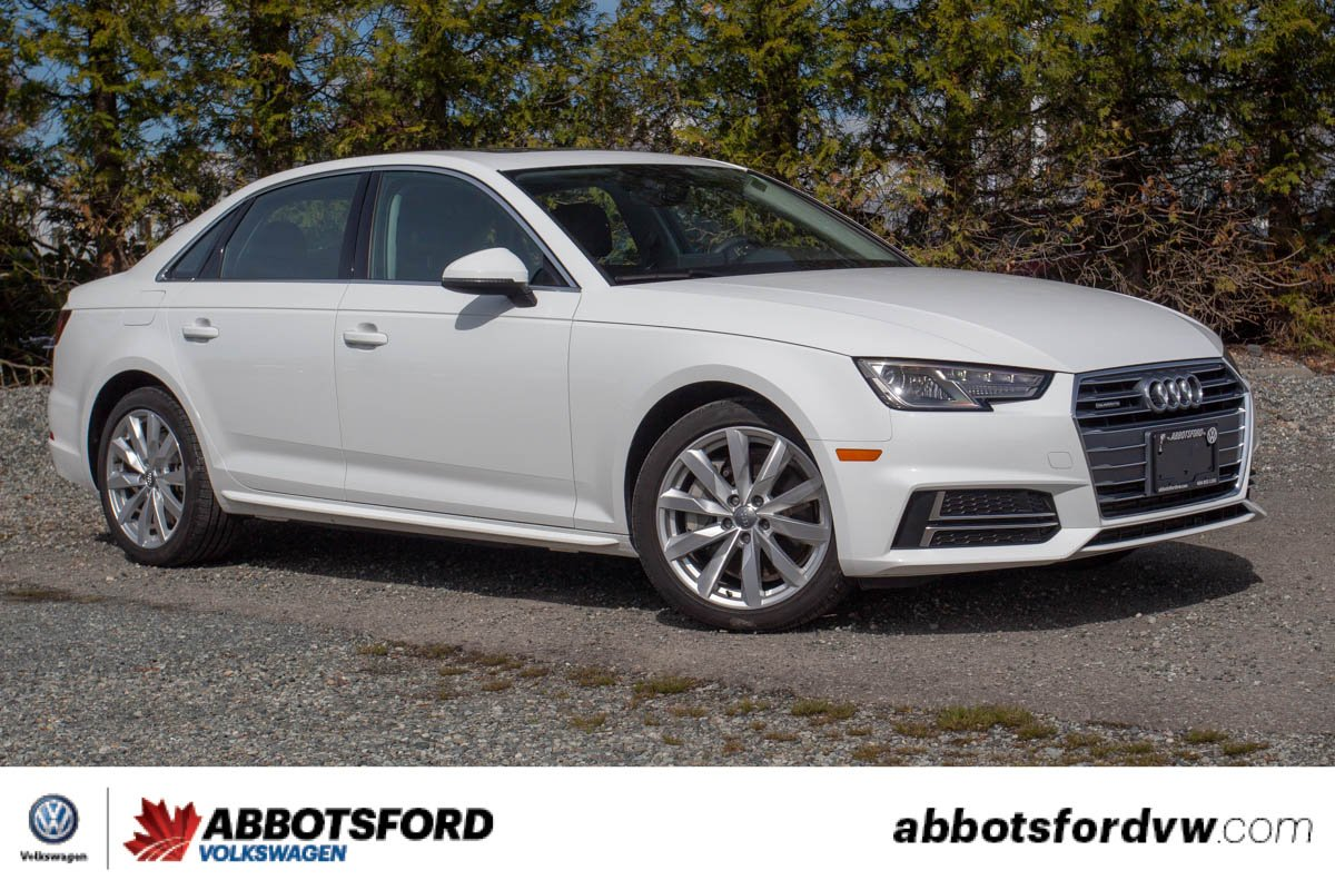 Pre-Owned 2018 Audi A4 Sedan Komfort ONE OWNER, NO ACCIDENTS, BC CAR!