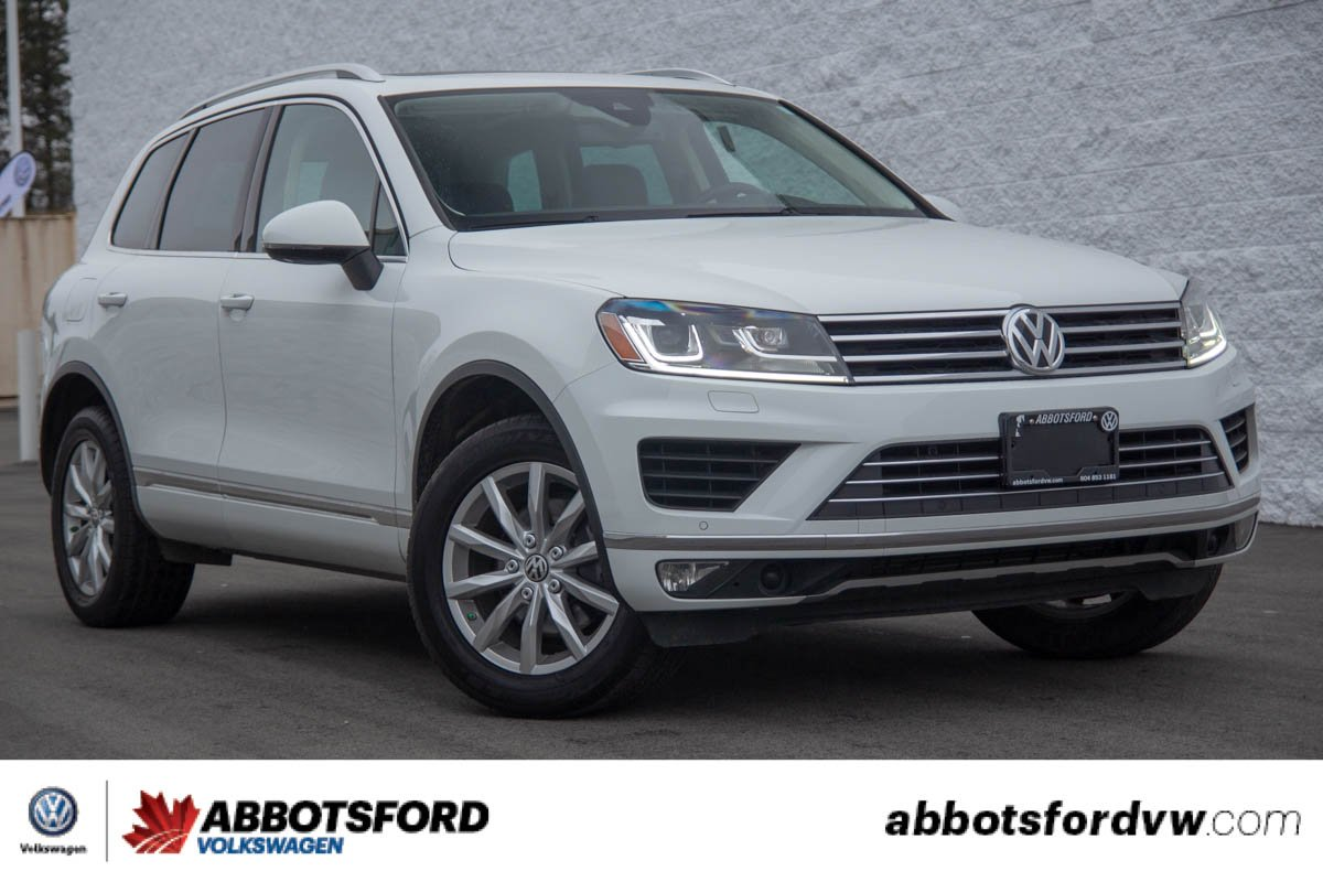 Certified Pre-Owned 2016 Volkswagen Touareg Comfortline LOW KM, BC CAR, GREAT VALUE!