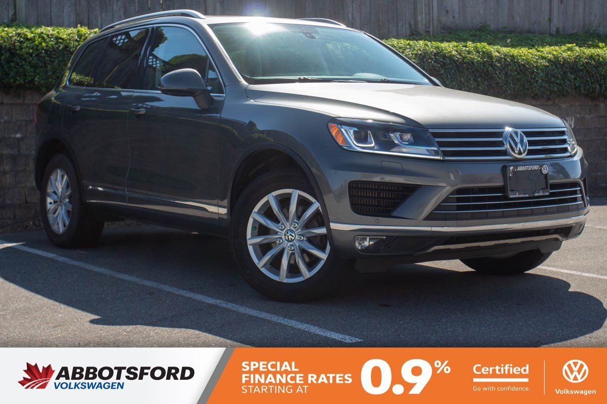 Certified Pre-Owned 2015 Volkswagen Touareg Sportline TDI SINGLE OWNER, NO ACCIDENTS, LOCAL CAR!