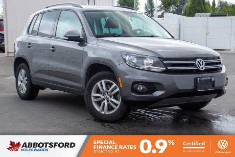 Certified Pre-Owned 2014 Volkswagen Tiguan Trendline 4MOTION AWD, GREAT CONDITION, LOCAL CAR, SUPER LOW KM!