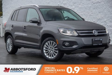 Certified Pre-Owned 2014 Volkswagen Tiguan Comfortline LOW KILOMETRES, NO ACCIDENTS, BC CAR